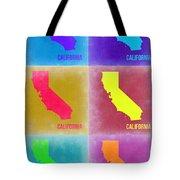 California Pop Art Map 2 Tote Bag by Naxart Studio