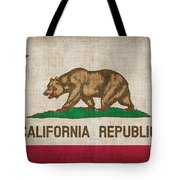 California State Flag Tote Bag by Pixel Chimp