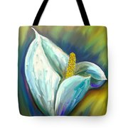 Calla Lily In The Morning Light Tote Bag by Angela A Stanton