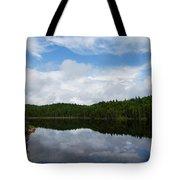 Calm Lake - Turbulent Sky Tote Bag by Georgia Mizuleva