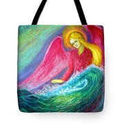 Calming Angel Tote Bag by Jane Small