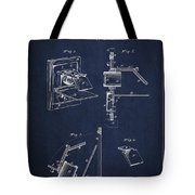 Camera Obscura Patent Drawing From 1881 Tote Bag by Aged Pixel