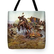 Camp Cooks Trouble Tote Bag by Charles Russell