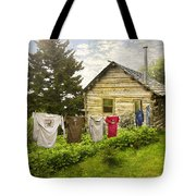 Camp Leconte Tote Bag by Debra and Dave Vanderlaan