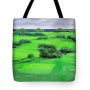 Campo Da Golf Tote Bag by Guido Borelli