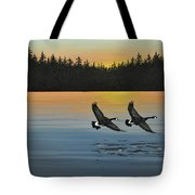 Canada Geese Tote Bag by Kenneth M  Kirsch