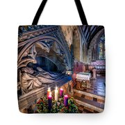 Candles At Christmas Tote Bag by Adrian Evans