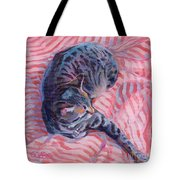 Candy Cane Tote Bag by Kimberly Santini