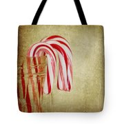 Candy Canes Tote Bag by Kim Hojnacki