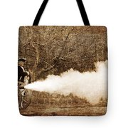 Cannon Fire Tote Bag by Mark Miller