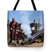 Cannon Firing At Fountain Of Youth Fl Tote Bag by Christine Till