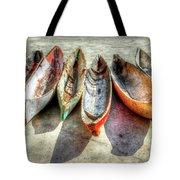 Canoes Tote Bag by Debra and Dave Vanderlaan