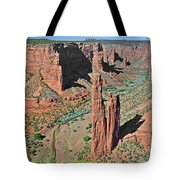 Canyon De Chelly - Spider Rock Tote Bag by Christine Till