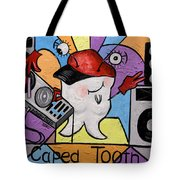 Caped Tooth Tote Bag by Anthony Falbo