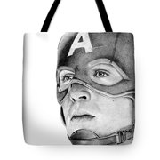 Captain America Tote Bag by Kayleigh Semeniuk