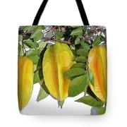 Carambolas Starfruit Three Up Tote Bag by Olivia Novak