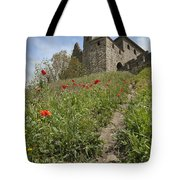 Carcassonne Poppies Tote Bag by Robert Lacy