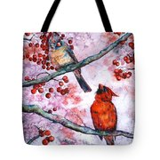 Cardinals  Tote Bag by Zaira Dzhaubaeva