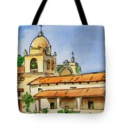 Carmel By The Sea - California Sketchbook Project Tote Bag by Irina Sztukowski