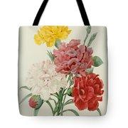 Carnations From Choix Des Plus Belles Fleures Tote Bag by Pierre Joseph Redoute