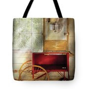 Carnival - The Popcorn Cart Tote Bag by Mike Savad
