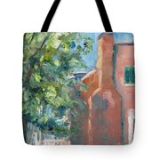 Carnton Plantation On A Spring Morning Tote Bag by Susan E Jones