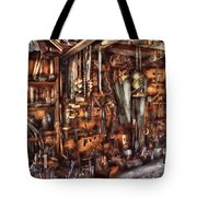 Carpenter - That's A Lot Of Tools  Tote Bag by Mike Savad