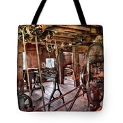 Carpenter - This Old Shop Tote Bag by Mike Savad
