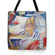 Carter Beauford Colorful Full Band Series Tote Bag by Joshua Morton