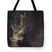 Casquets Lighthouse Tote Bag by Victor Hugo