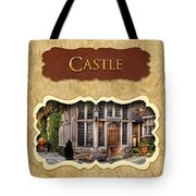 Castle Button Tote Bag by Mike Savad