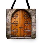 Castle Door Tote Bag by Carlos Caetano