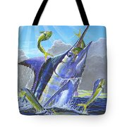 Catch Em Up Off0029 Tote Bag by Carey Chen
