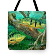 Catching Peacock Bass - Pavon Tote Bag by Terry Fox