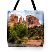 Cathedral Rock Tote Bag by Fred Larson