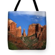 Cathedral Rock Moon Rise Color Tote Bag by Dave Dilli