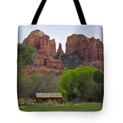 Cathedral Rock V Tote Bag by Dave Gordon