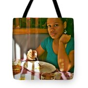 Catherine At The Diner Tote Bag by Sarah Loft