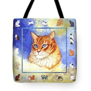 Cats Purrfection Five - Orange Tabby Tote Bag by Linda Mears