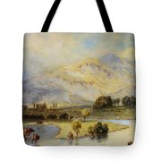 Cattle Watering Tote Bag by Myles Birket Foster