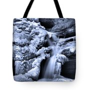 Cedar Falls In Winter Tote Bag by Dan Sproul