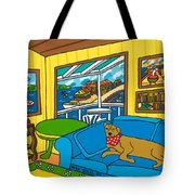 Cedar Key Snoozer Tote Bag by Mike Segal