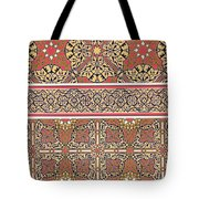 Ceiling Arabesques From The Mosque Of El-bordeyny Tote Bag by Emile Prisse d Avennes