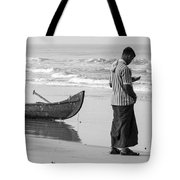 Cellphone Castaway Tote Bag by Sonny Marcyan