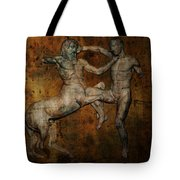 Centaur Vs Lapith Warrior Tote Bag by Daniel Hagerman