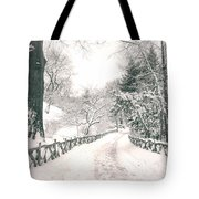 Central Park Winter Landscape Tote Bag by Vivienne Gucwa