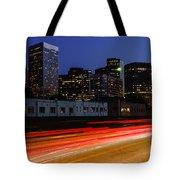 Century City Skyline At Night Tote Bag by Paul Velgos