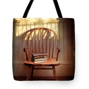 Chair And Lace Shadows Tote Bag by Jill Battaglia