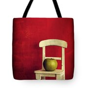 Chair Apple Red Still Life Tote Bag by Edward Fielding