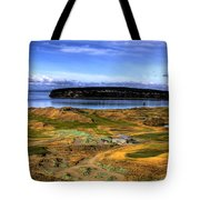 Chambers Bay Golf Course Tote Bag by David Patterson